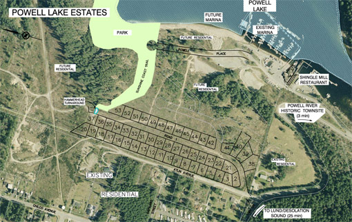 Powell Lake Estates Site plan